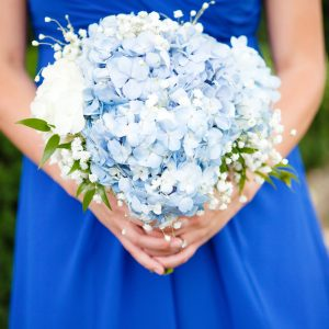 Blue Bridesmaid Bouquet